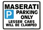 MASERATI Large metal ParkingSign for 3200 3500 GT  GTA